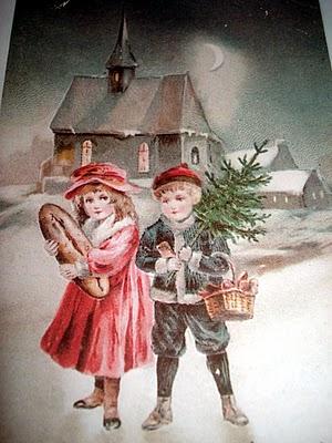 Antiche Immagini Di Natale.Antica Cartolina Di Natale Italianintransito