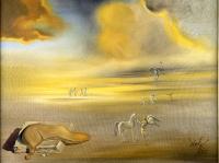 Salvatore Dalì, Mostro molle in un paesaggio angelico, 1977