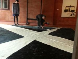 Saburo Murakami, performance in Palazzo Fortuny, Venezia