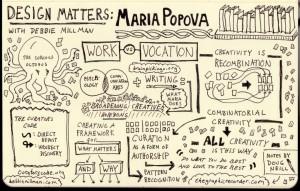 Schizzo riassuntivo sulle idee di Maria Popova realizzato da Doug Neil