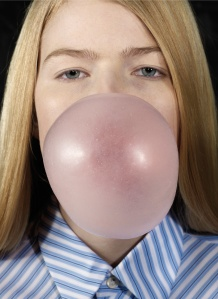 Ethridge Roe, Louise Blowing a Bubble, 2011