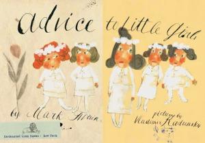 Una tavola di Advice to little girls, da Brain pickings