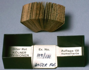 Dieter Roth, Cologne Divisions,1965