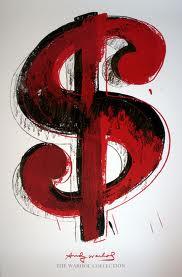 Andy Wharhol, dollar sign