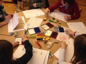 attività dentro la biblioteca di San Giorgio Pistoia