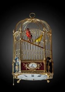 Jaquet-Droz Pendule automate aux oiseaux chanteurs dans une cage accaompagnés de six mélodies (ca. 1785)