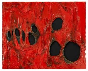 Alberto-Burri-Rosso-Plastica-1963