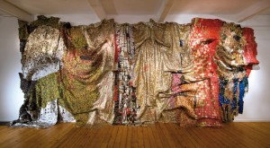 El Anatsui, In the World But don't Know the World,2011