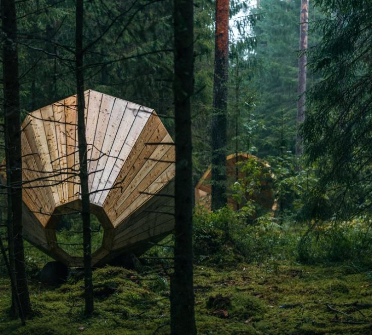 La serie dei megafoni della foresta di Võrumaa