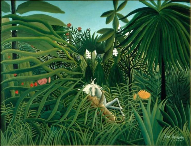 Henri-Rousseau-Cavallo-attaccato-da-un-giaguaro-1910-Public-Domain-via-Wikipedia-Commons